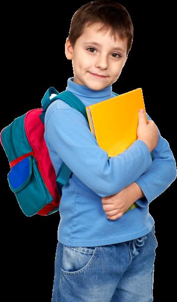 little boy ready for school